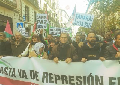 Manifestacion Sahara Occidental